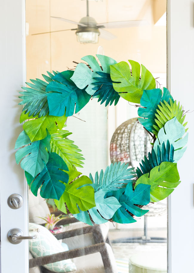 Make a Tropical Leaf Wreath