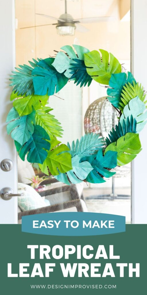 DIY monstera leaf wreath