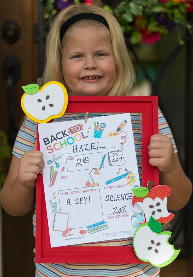 First day of school sign with free printable