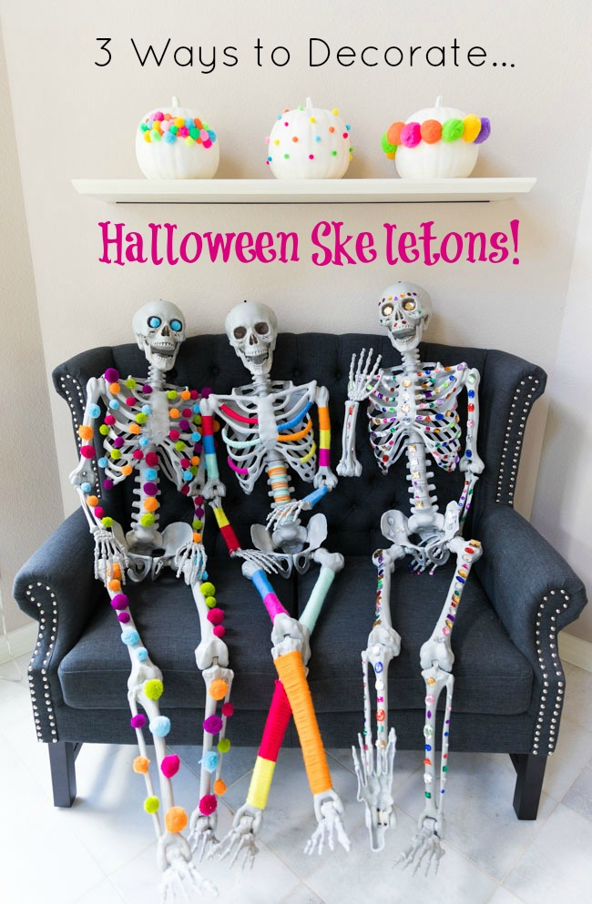 3 Colorful Ways to Decorate Halloween Skeletons