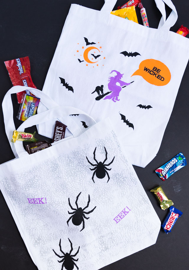 DIY Stenciled Trick or Treat Bags