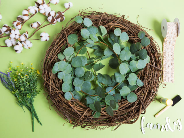 DIY Eucalyptus Wreath Supplies