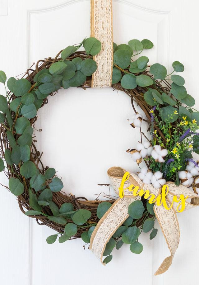 DIY Fall Eucalyptus Wreath