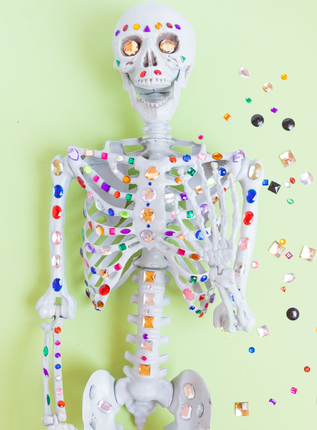Bejeweled Halloween skeleton