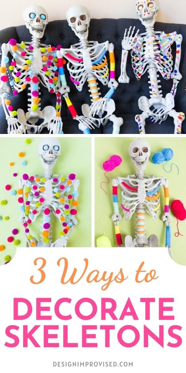 3 Ways to Decorate Halloween Skeletons