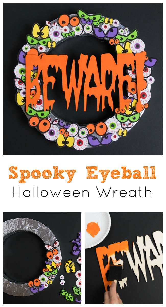 Spooky Eyeball Halloween Wreath