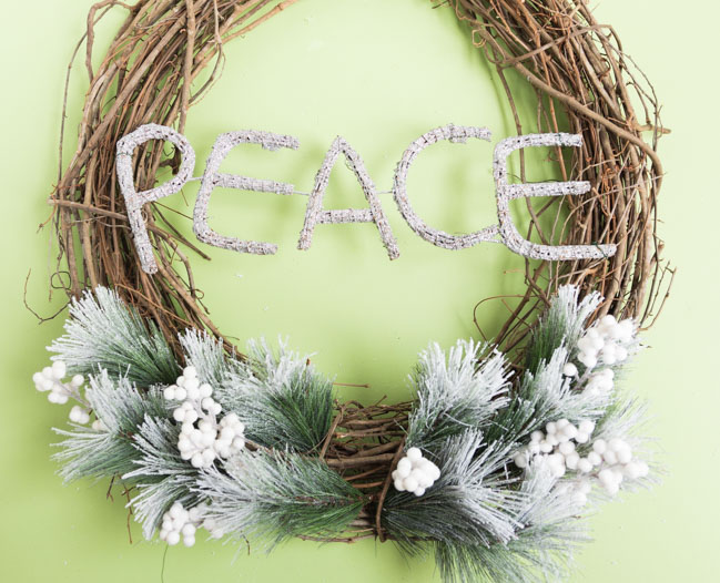 DIY Peace Wreath