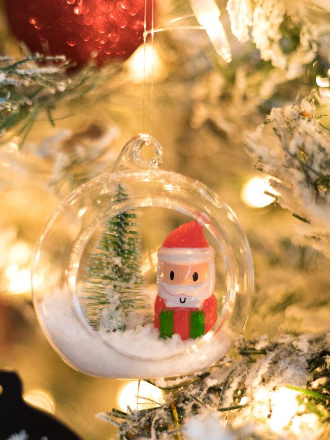 DIY Santa Snow Globe Ornament