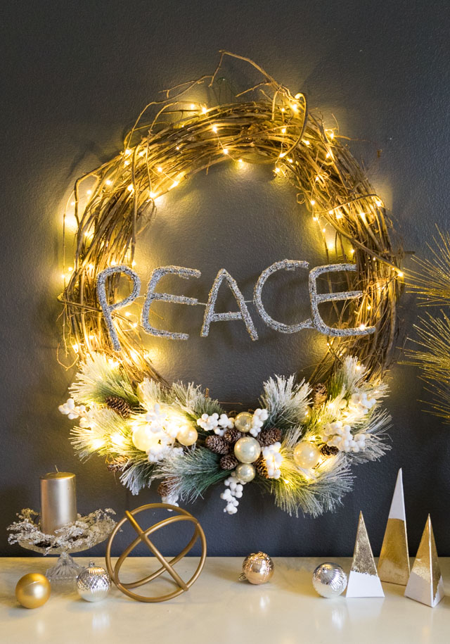How to Make a Lighted Christmas Wreath