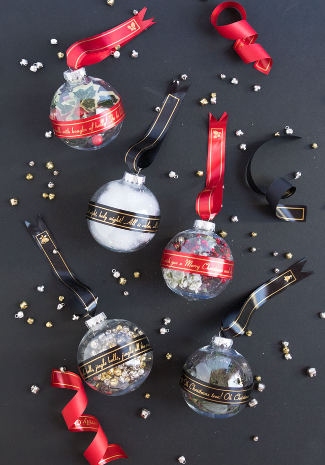 Ribbon Christmas Ornaments with Brother P-Touch Embellish Elite