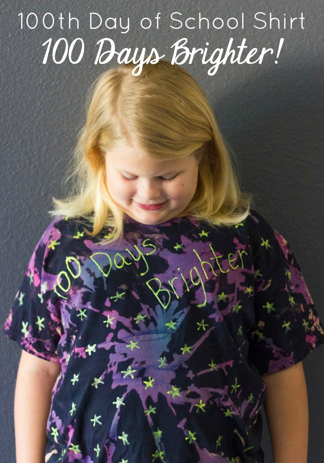 100 days brighter shirt for the 100th day of school!