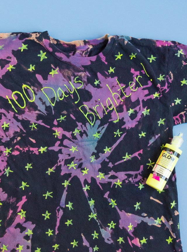 100 Days Brighter Shirt with Glow in the Dark Stars