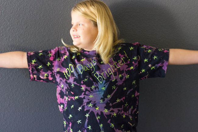 DIY 100 Days Brighter Shirt for the 100th Day of School