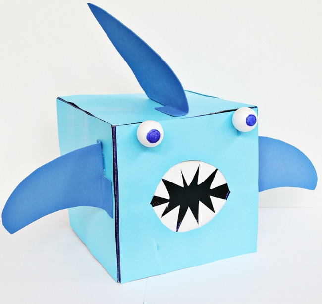 Shark Valentine Box for Boys