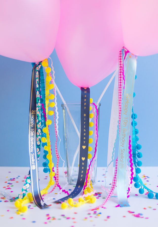 DIY Ribbon Balloons with P-Touch Embellish Elite