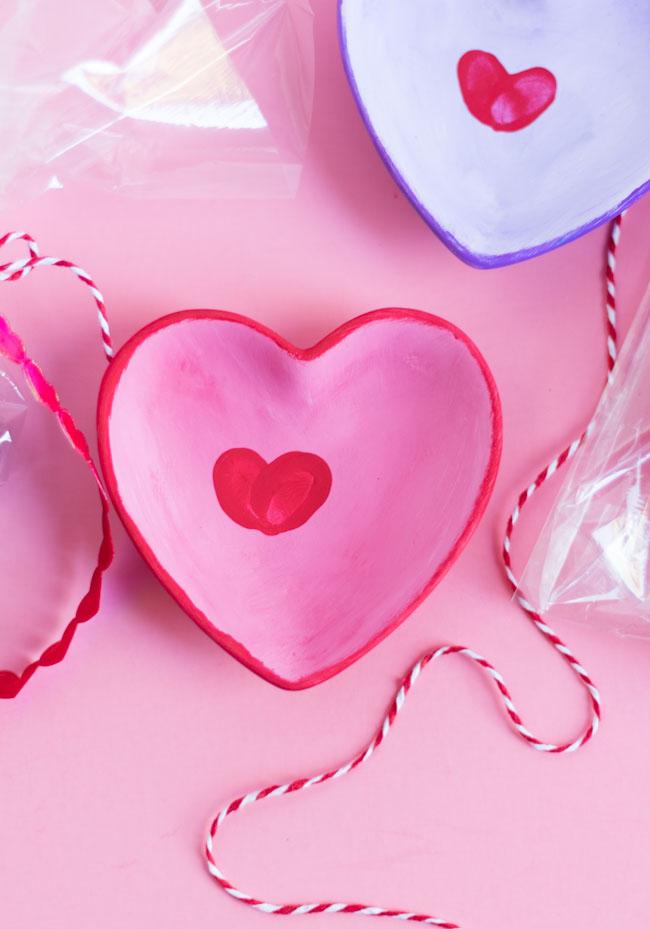 Fingerprint hearts kids craft idea for Valentine's Day