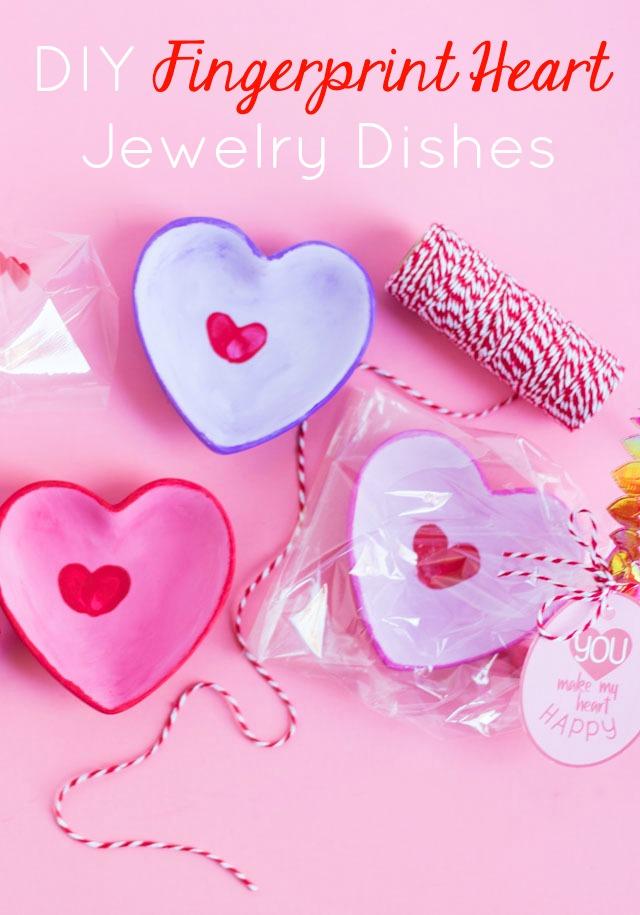 DIY Fingerprint Hearts Valentine Craft for Kids