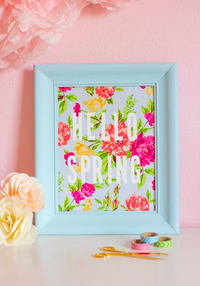 Hello Spring DIY Art Decor