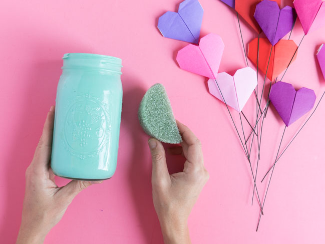 How to make a paper heart bouquet