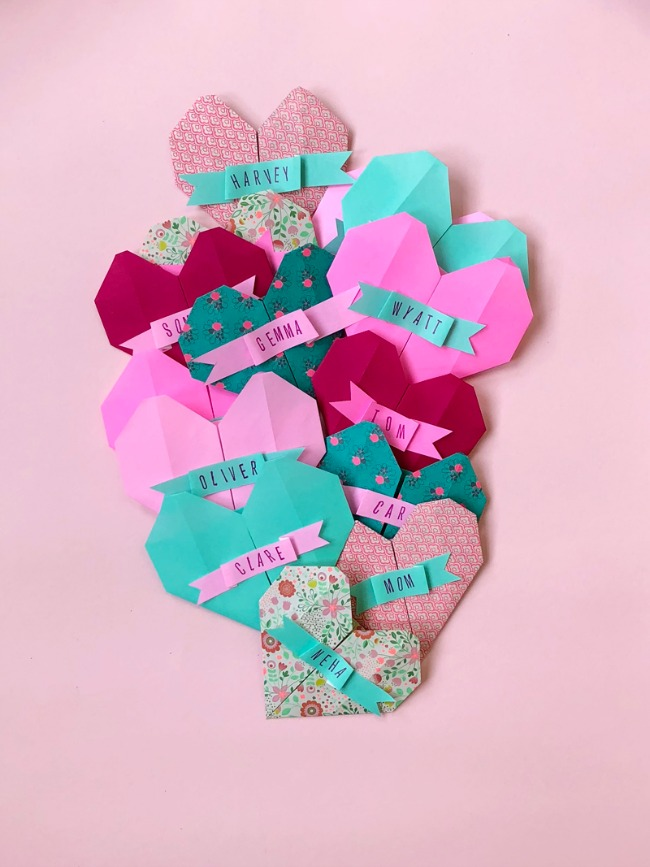 Origami Heart Valentine Cards