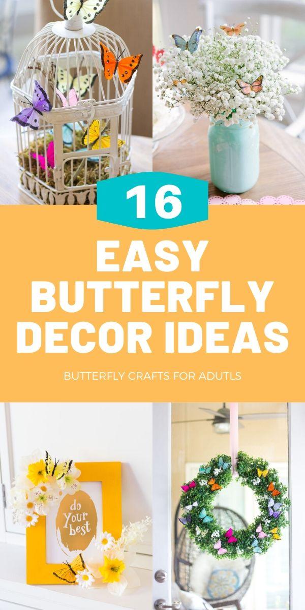 16 Easy DIY Butterfly Decor Ideas