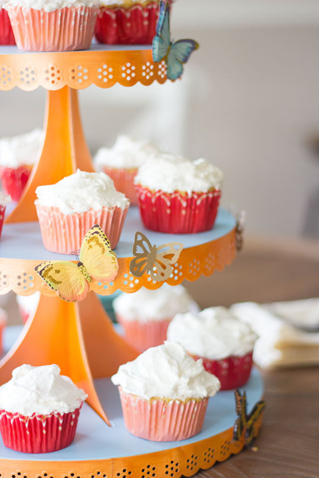 DIY Butterfly Cake Stand