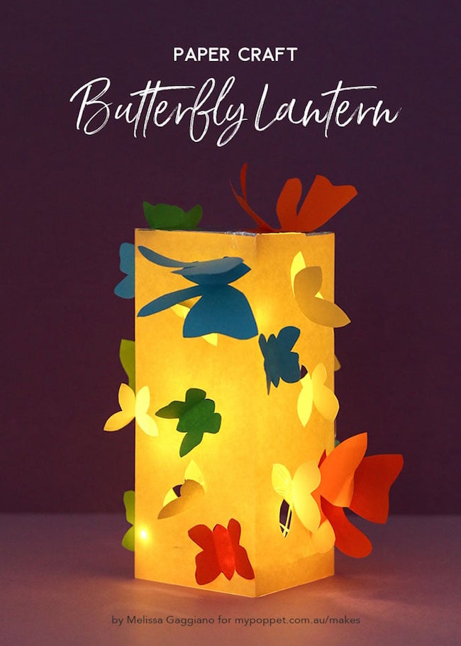 DIY Paper Butterfly Lantern
