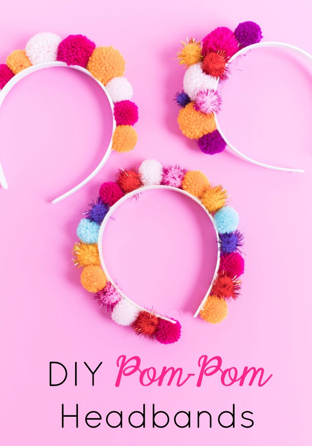The Easiest DIY Pom-Pom Headbands