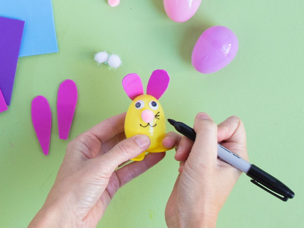 Easter bunny plastic egg craft