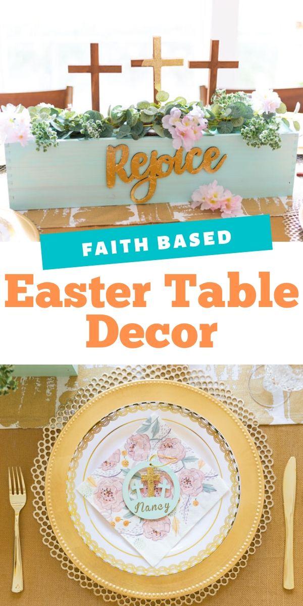 DIY Religious Easter Table Decor Ideas