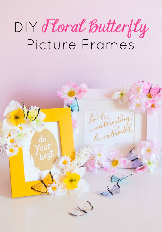 DIY Floral Butterfly Frame