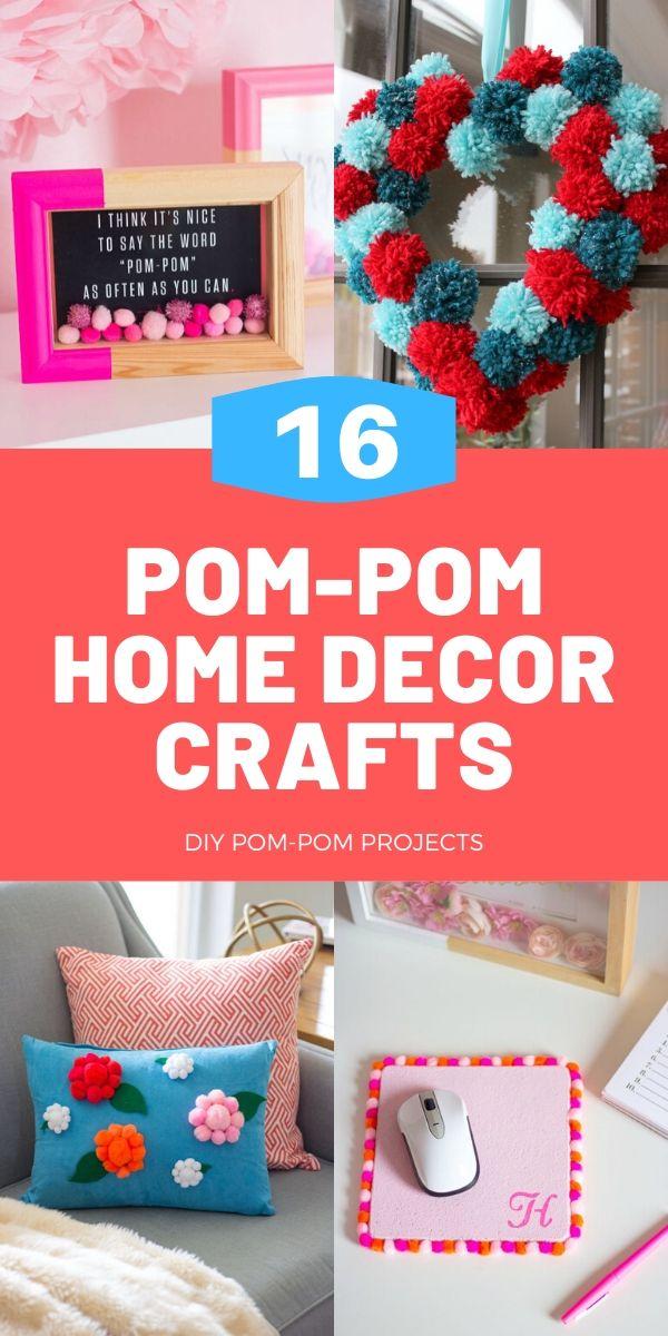 16 Pom-Pom Home Decor Crafts