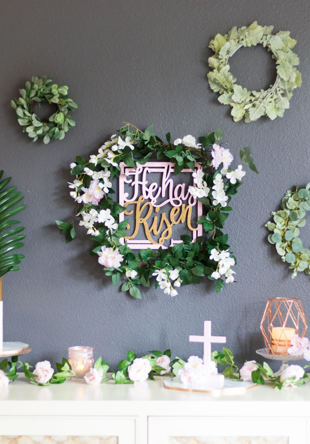He is Risen DIY Easter Table Decor