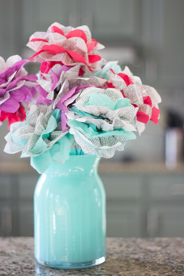DIY Encyclopedia Paper Flowers