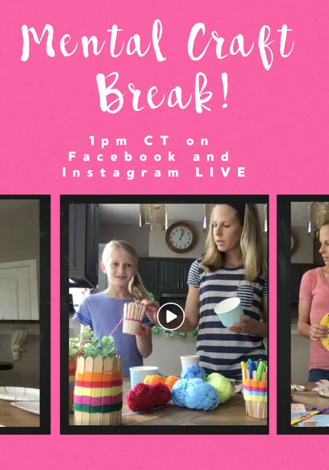 Join us for a daily Mental Craft Break!