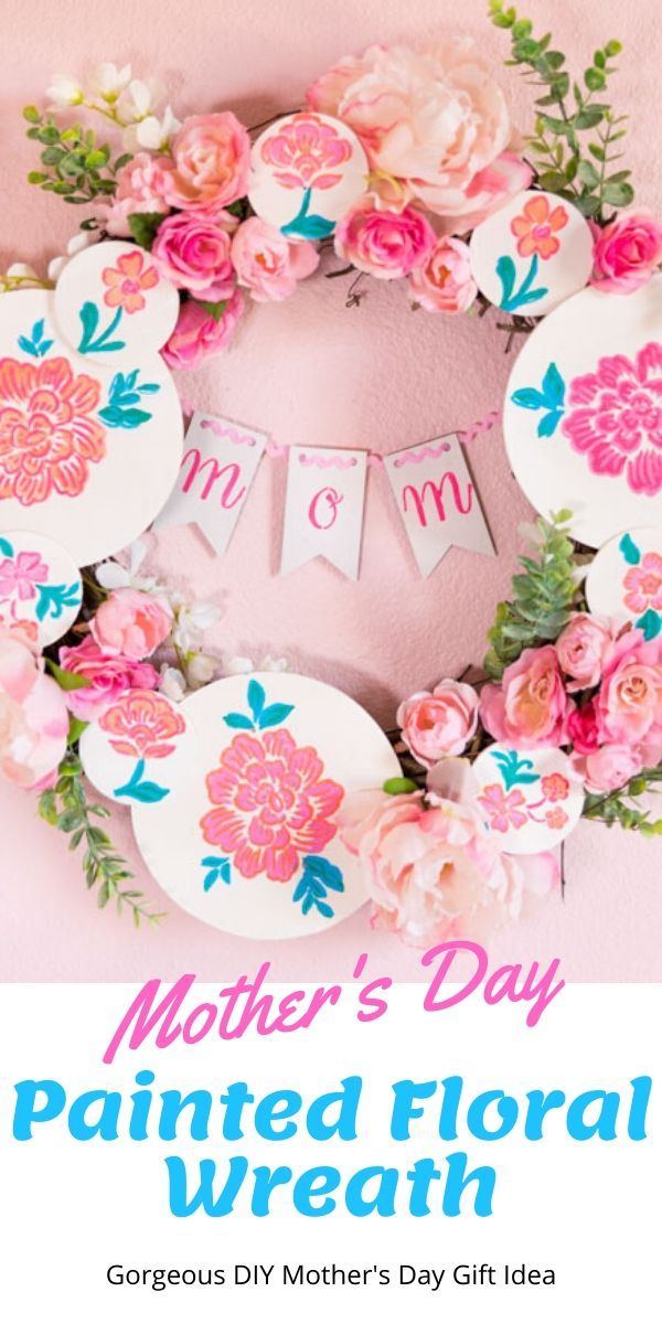 DIY Floral Mother's Day Wreath