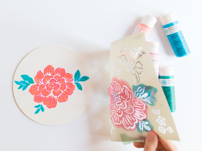 How to layer stencils