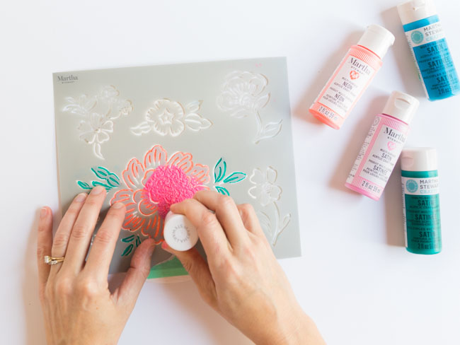 How to use layering stencils
