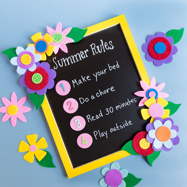 Summer rules list for kids