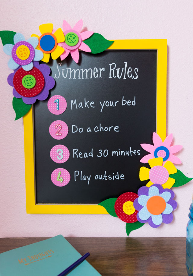 Make a Summer Rules Sign for Kids