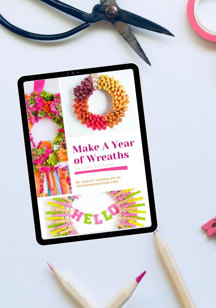 Make a Year of DIY Wreaths – New Ebook!