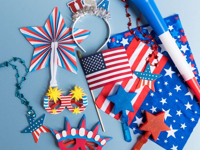 4th of July Neighborhood Parade Decorations