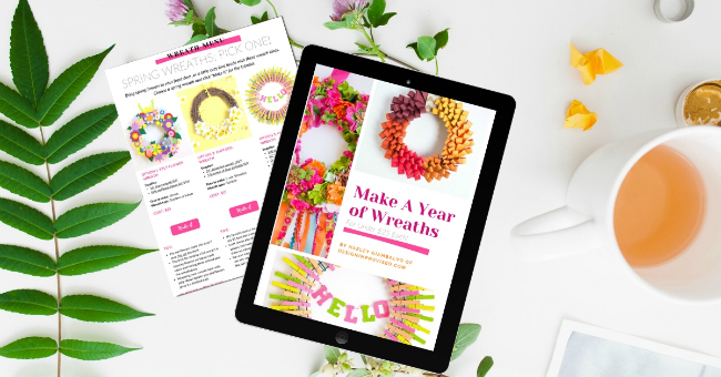 Make a year of wreaths for under $25 each