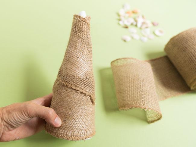 How to make seashell cone trees