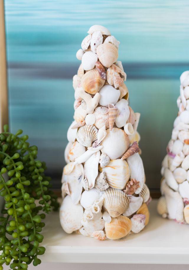 DIY Seashell Cone Tree Idea