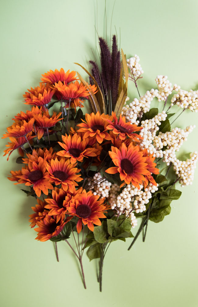 Fall floral stems from the Dollar Tree