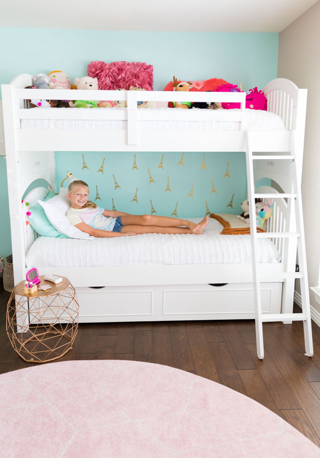 Stella's Teal Paris Bedroom Reveal!