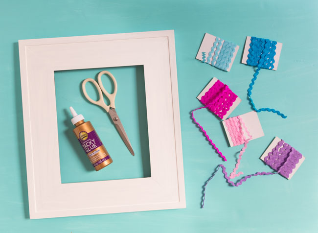 Supplies for rickrack picture frames