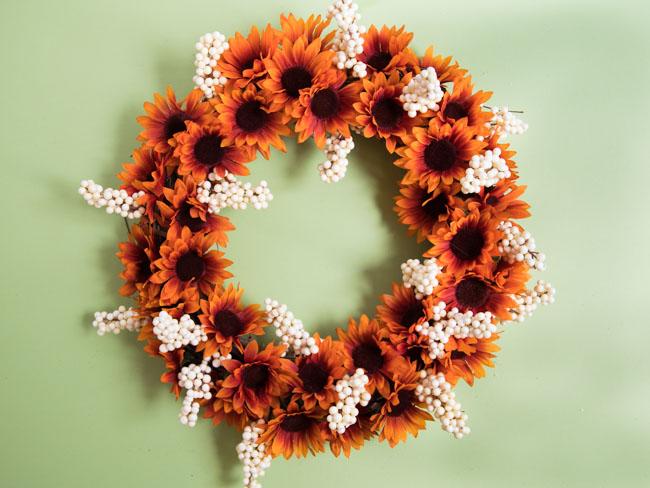 Dollar Tree fall sunflower wreath