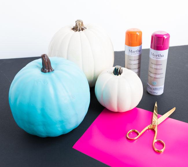 Supplies for Cricut pumpkins